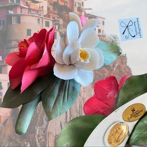SOLD Capodimonte Porcellane Italy Flowers Figurine